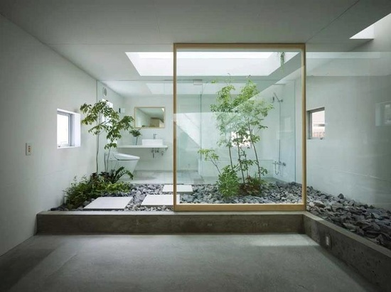 Like plants and the natural light inside the bathrooms..