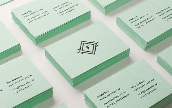 frame inc. business cards