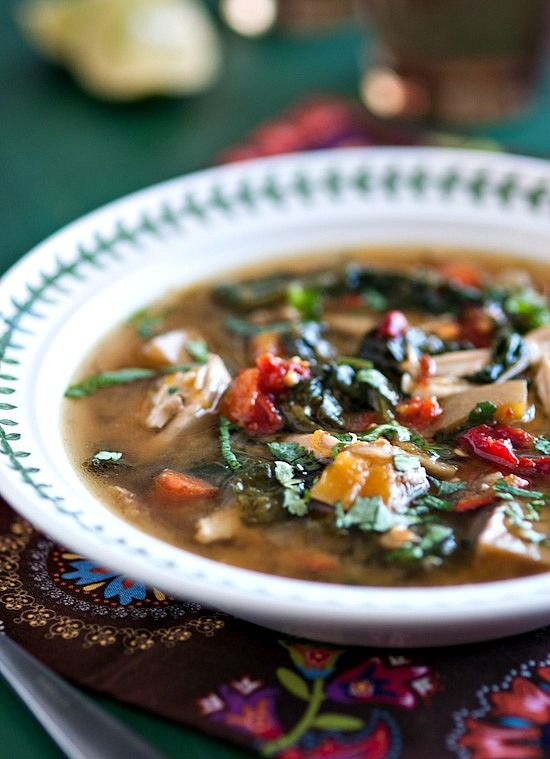 Padma Lakshmi's Chicken Soup with Butternut Squash and Spinach