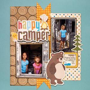 Happy Camper scrapbook layout