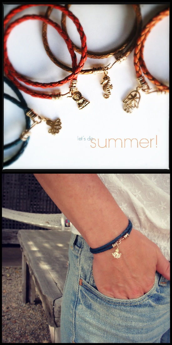Perfect for summer! Braided leather wrap bracelets from JewelryByMaeBee on Etsy.