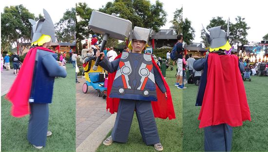 Do It Yourself Instructions for LEGO Thor Costume!  We won 2nd place at Brick or Treat at LEGOLAND California!