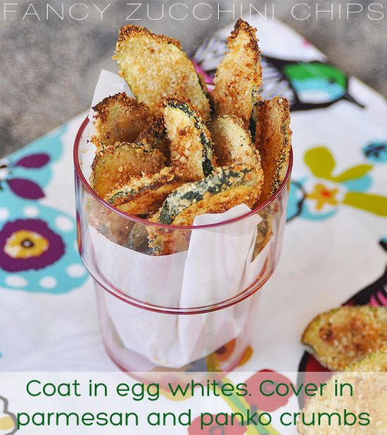 Fancy Baked Zucchini Chips