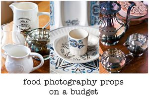 where to find food photography props on a budget