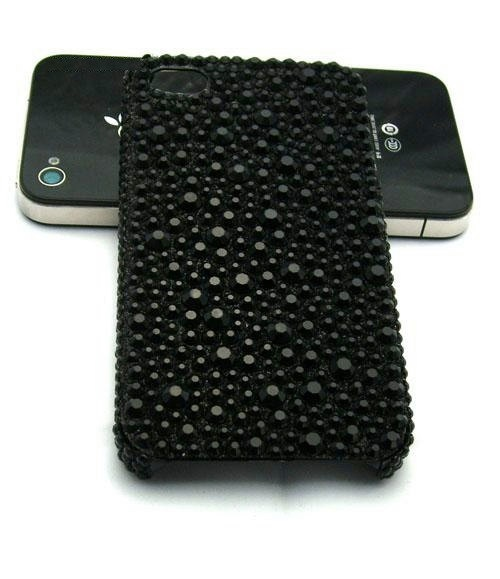 Chic Bling Bling Black Crystals iPhone Case iPhone by PopCornWorks, $28.90
