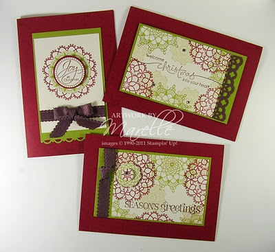 Great Stamp A Stack idea at Christmas using Stampin' Up!