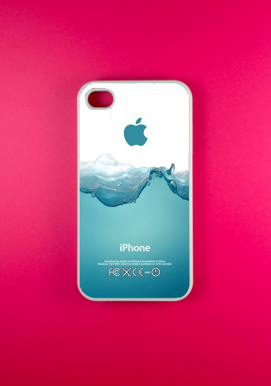 Iphone 4 Case - Water Splash Iphone Case,Iphone 4s Case. $14.99, via Etsy.