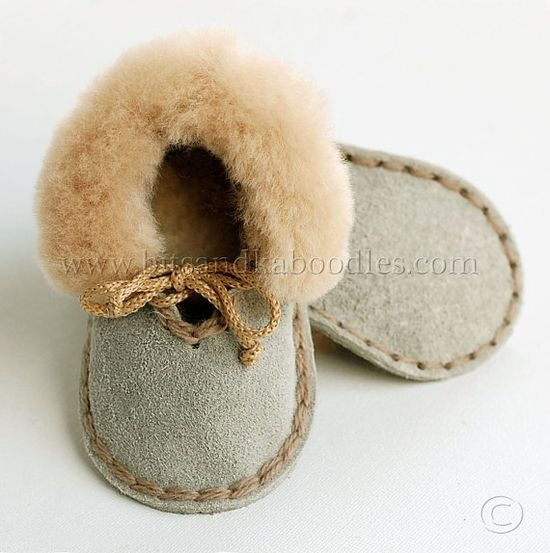 Baby booties via etsy