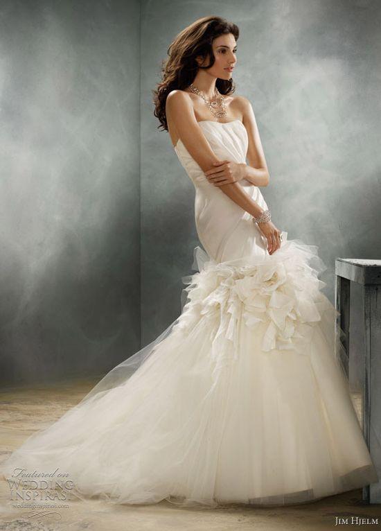 jim hjelm couture wedding dress @ weddinginspirasi....