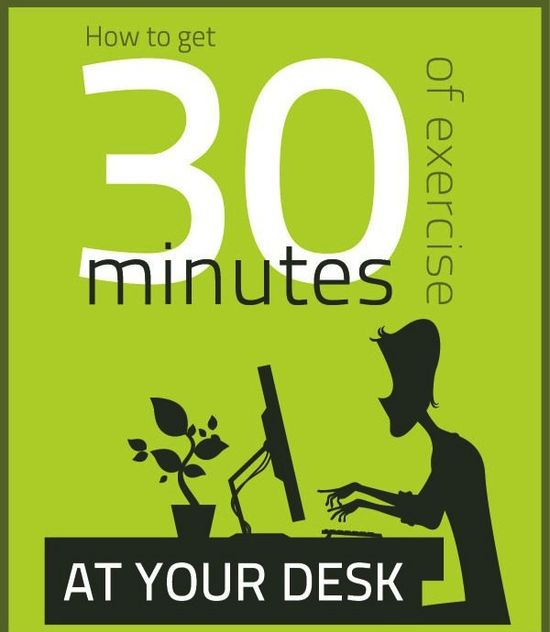 How to get 30 minutes of exercise at your desk during your work day