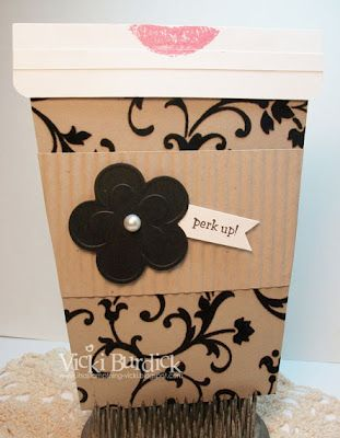 Starbucks gift card holder - love it.  From Vicki Burdick's blog itsastampthing-vi...