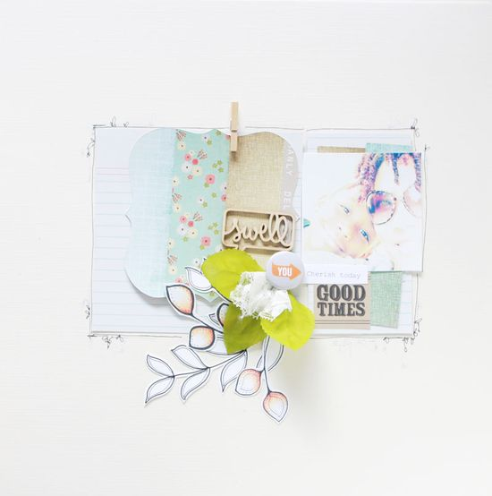 #papercraft #scrapbook #layout layers are on large index card