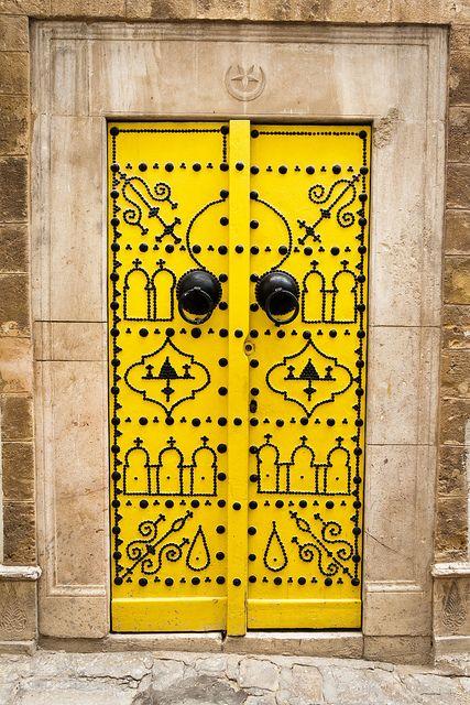 Yellow door, Tunis, Tunisia