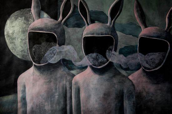 "Saatchi Online Artist: Nadja Jovanovic; Acrylic, 2013, Painting ""Void"""