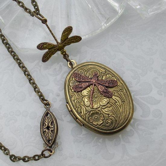 dragonfly locket