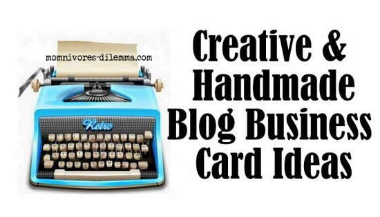 Creative & Handmade Business Cards #blogging