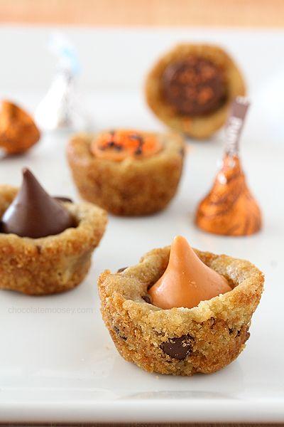 Pumpkin Spice Kiss Cookie Cups