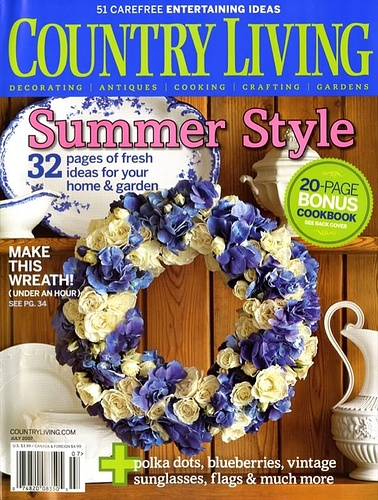 Country Living magazine July 2007 - decorate write up
