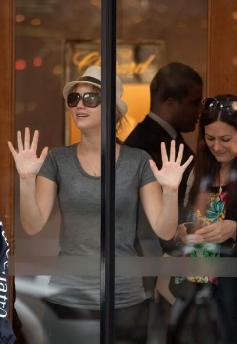 """""""I have an obsessive passion, but this is a very strange passion. Glass doors, I love them."""" -Jennifer Lawrence"""