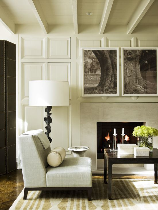McAlpine Booth & Ferrier Interiors Cordish Townhome » McAlpine Booth & Ferrier Interiors   I don't necessarily love this space, but i do love the photo broken into two frames on the wall.  Really cool!!