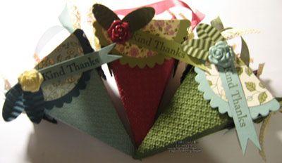 Vintage Petal Cone Treats