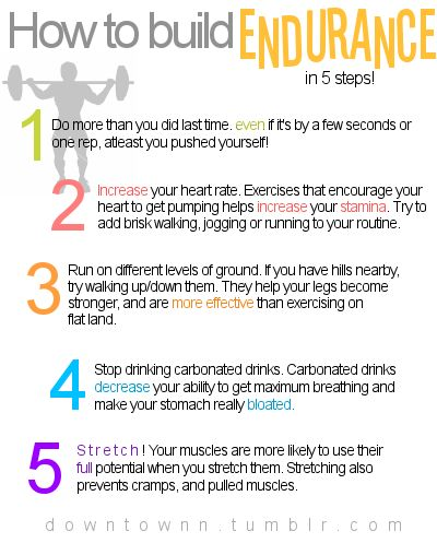 ENDURANCE is such a HUGE part of getting fit....