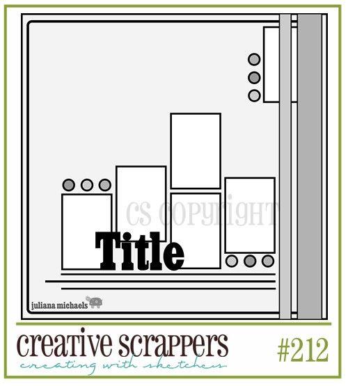 Creative Scrappers: Sketch #212  creativescrappers...