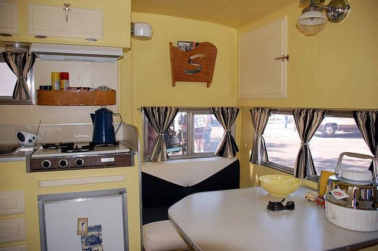 Vintage Trailer Kitchen and Dining