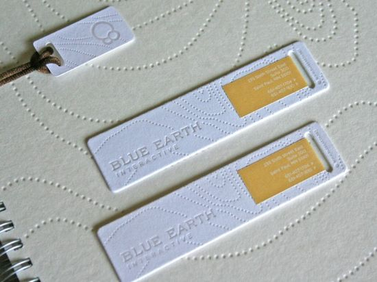 unusual size letterpress business cards