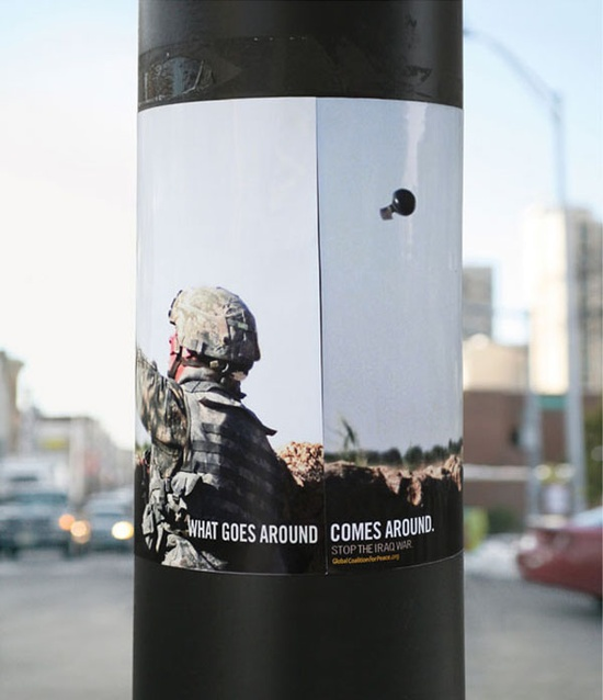 What Goes Around – Comes Around – Anti-War Campaign