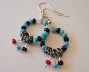 Great pair of handmade earrings #handmade #handmade bow #highlights #nwa express yourself