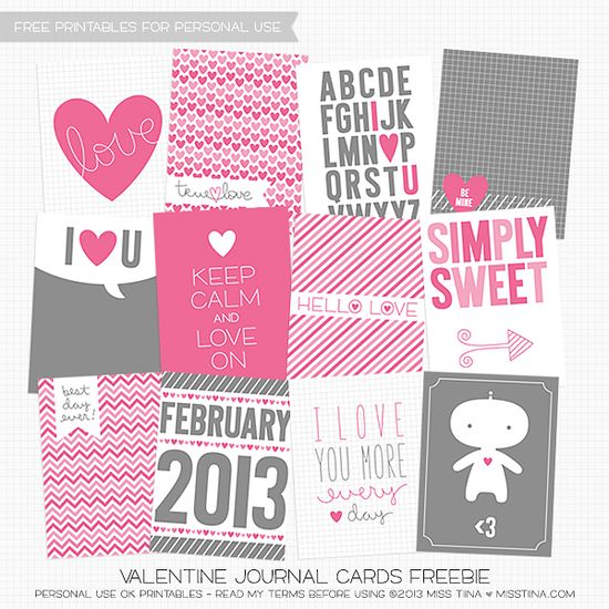 FREE Valentine's Journal Cards Printables!