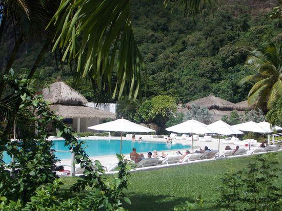 Pool area at Sugar Beach Resort