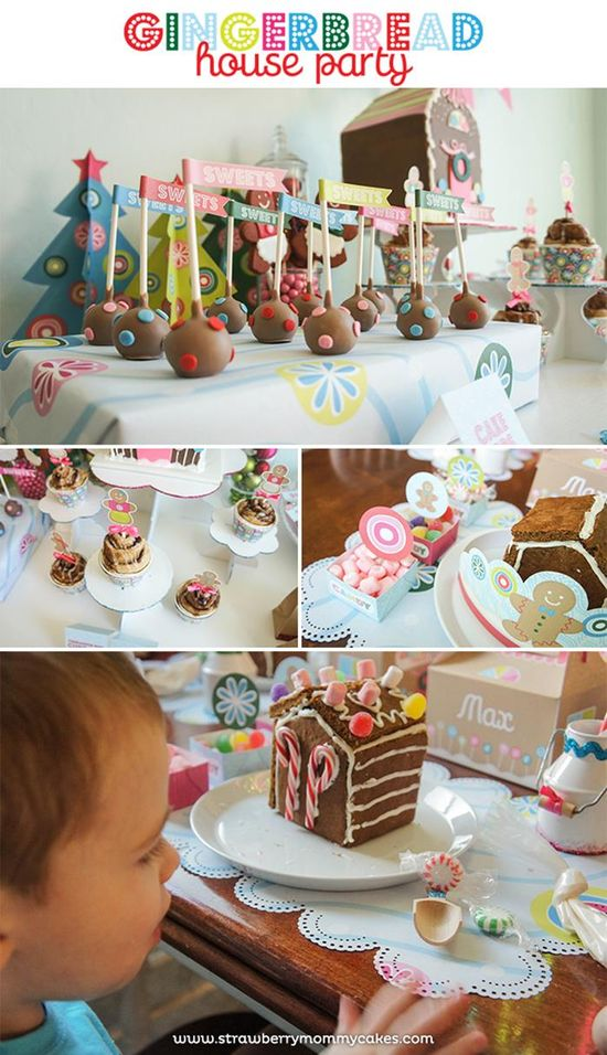 Gingerbread House Party with So Many Cute Ideas via Kara's Party Ideas