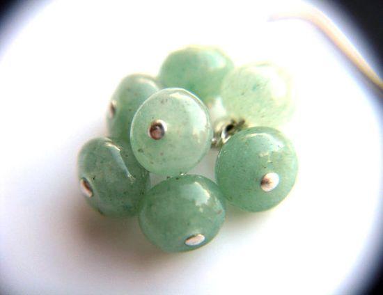 Mint Green Earrings . Green Grape Cluster Earrings by ThePeachTree