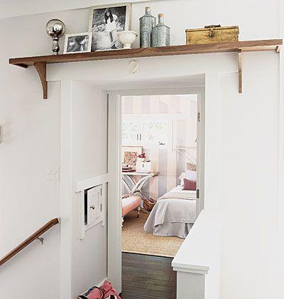 Loving shelves above doors