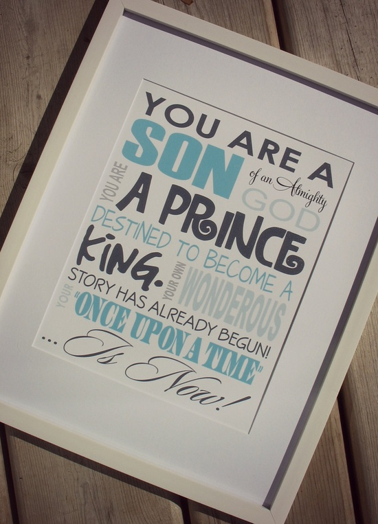 LOVED THIS FOR GUY'S ROOM.  :)  Son of an Almighty God.  I love my boys.