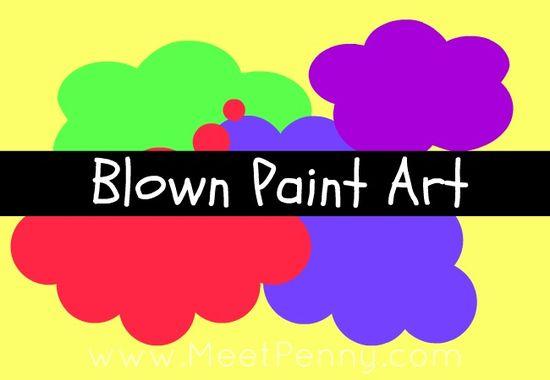 VIDEO: Blown Paint Art