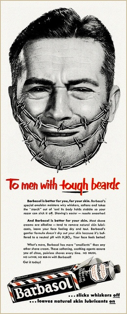 Barbasol for Tough Beards, 1952