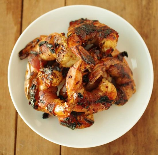 Recipe for Glazed bacon-wrapped grilled shrimp - Food & dining - The Boston Globe