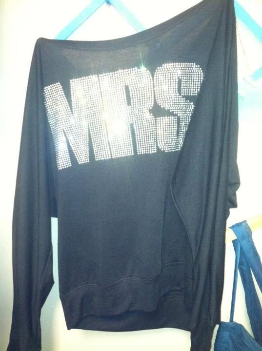 Mrs. shirt for morning after the wedding-perfect for plane ride to honeymoon destination:) On Etsy.