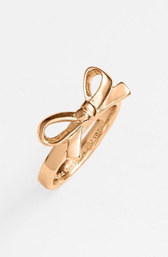 Kate Spade Skinny Mini Bow Ring.