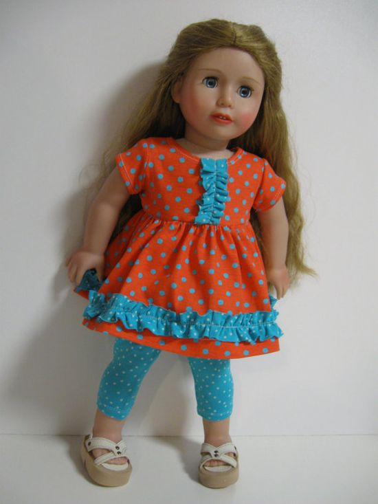 American Girl Doll Bright and Colorful