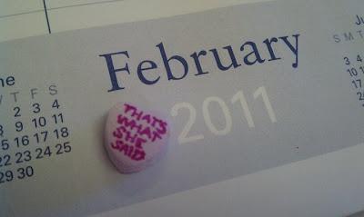 Romantic valentine conversation heart
