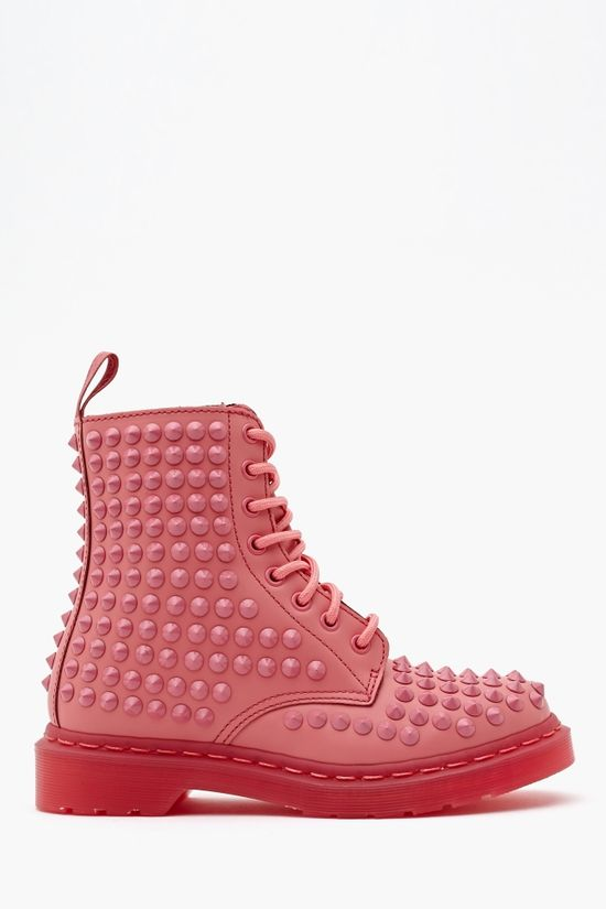 Spike 8 Eye Boot in Pink