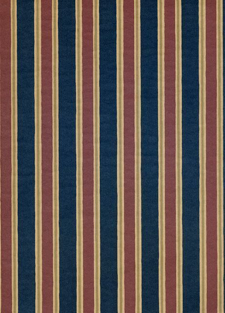 Clarence House Wallpaper Henley Stripe-Navy $172.99 price per roll #interiors #decor #stripe