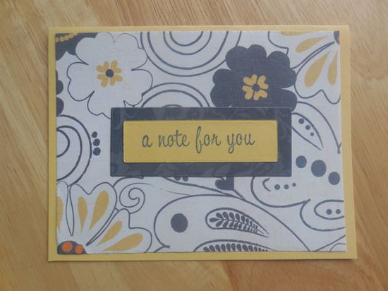 A Note for You handmade card