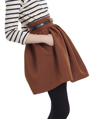 stripes, skirt + tights