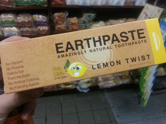 Natural toothpastes you can buy - Earthpaste $7 (amazon)