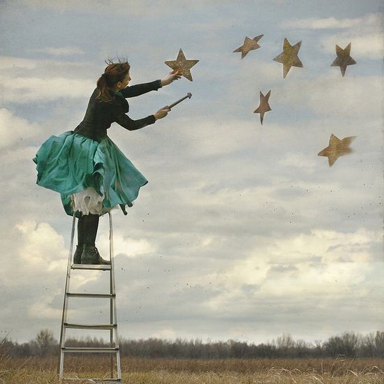 painting the stars into the sky